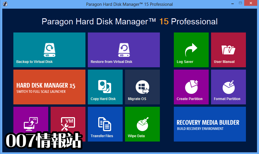 Paragon Hard Disk Manager (32-bit) Screenshot 1