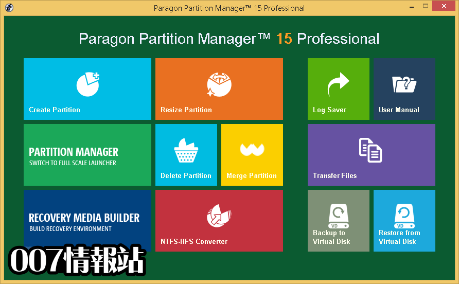 Paragon Partition Manager Professional (32-bit) Screenshot 1