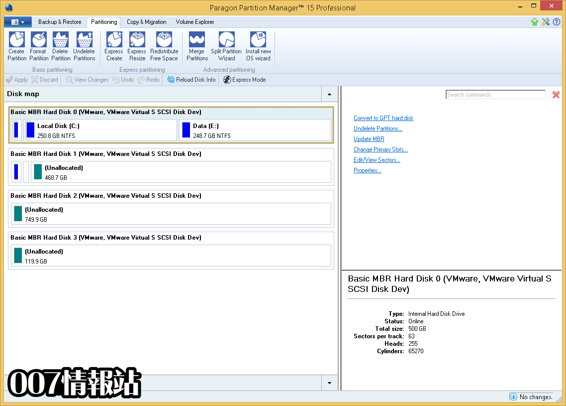 Paragon Partition Manager Professional (32-bit) Screenshot 2