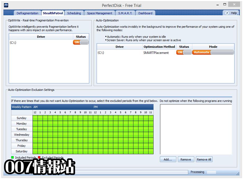 PerfectDisk Pro Screenshot 2