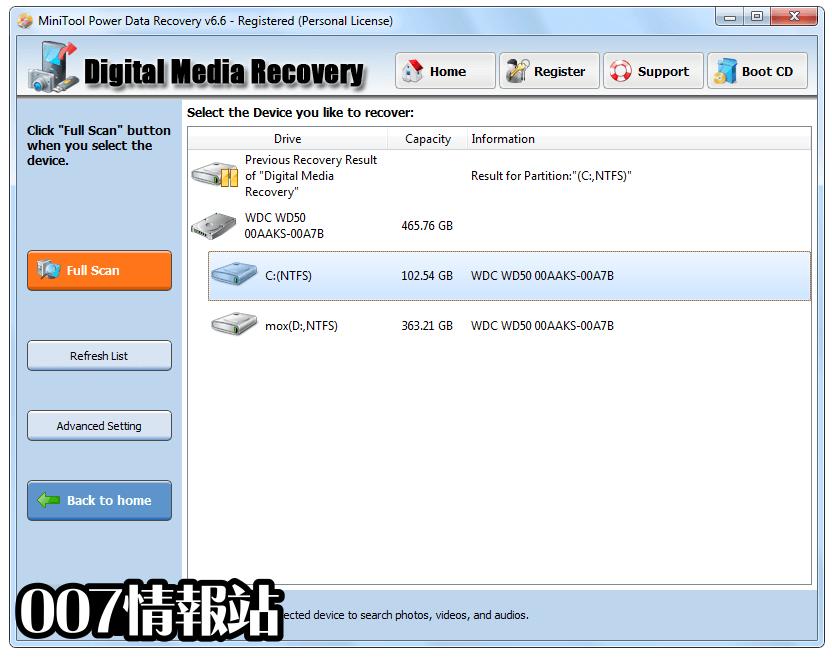 MiniTool Power Data Recovery Free Screenshot 2