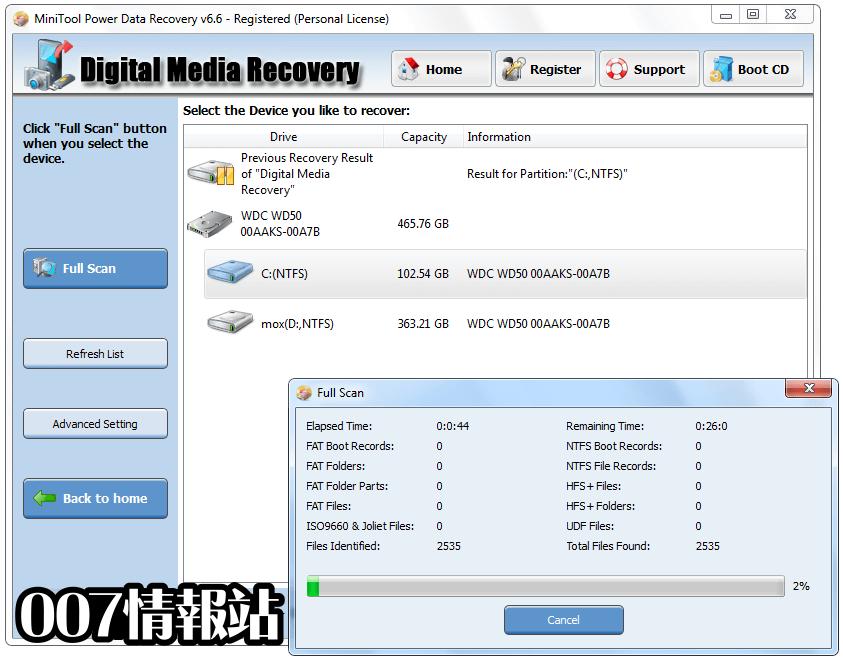 MiniTool Power Data Recovery Free Screenshot 3