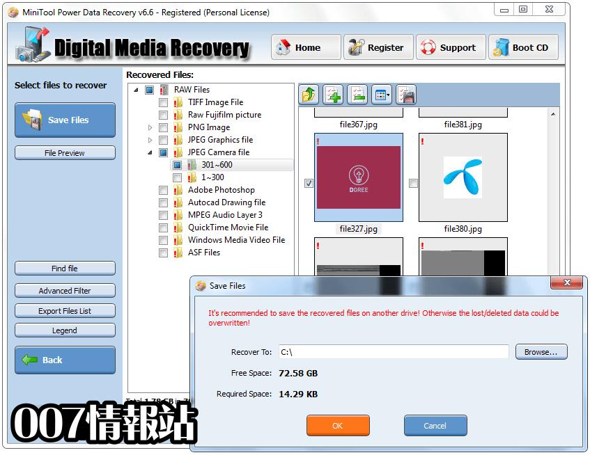 MiniTool Power Data Recovery Free Screenshot 5