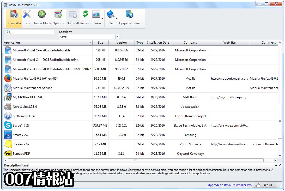 Revo Uninstaller Free Screenshot 1
