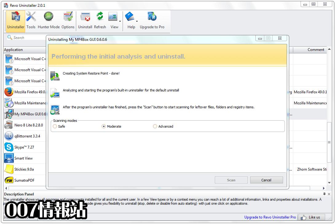 Revo Uninstaller Free Screenshot 2