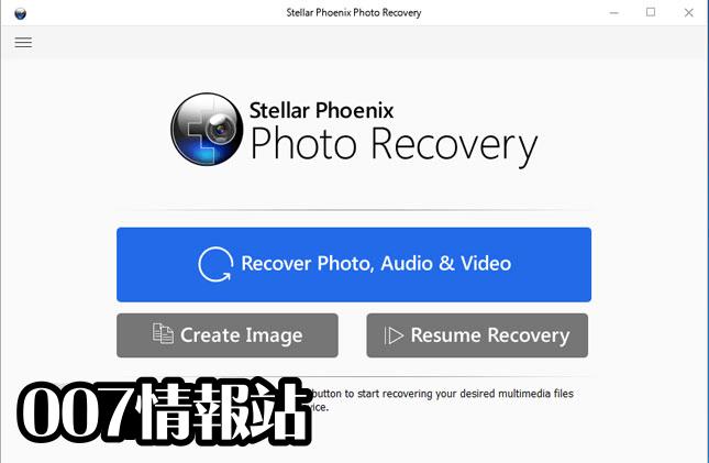 Stellar Phoenix Photo Recovery Screenshot 1
