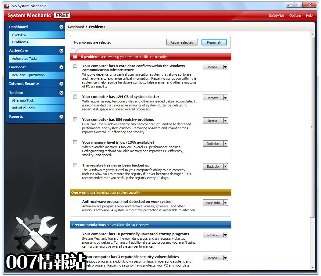 System Mechanic Free Screenshot 3
