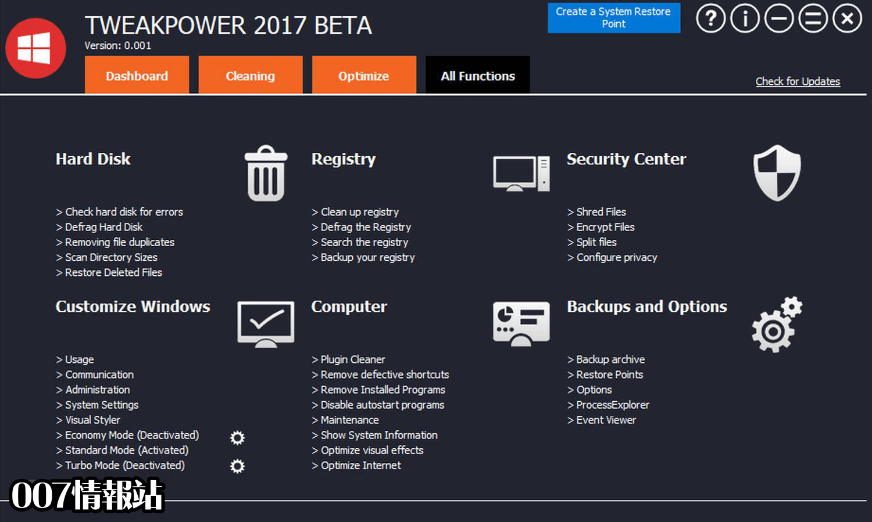 TweakPower Screenshot 4