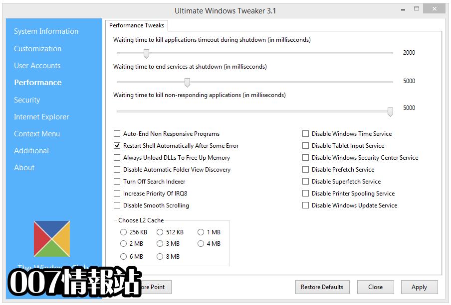 Ultimate Windows Tweaker Screenshot 2