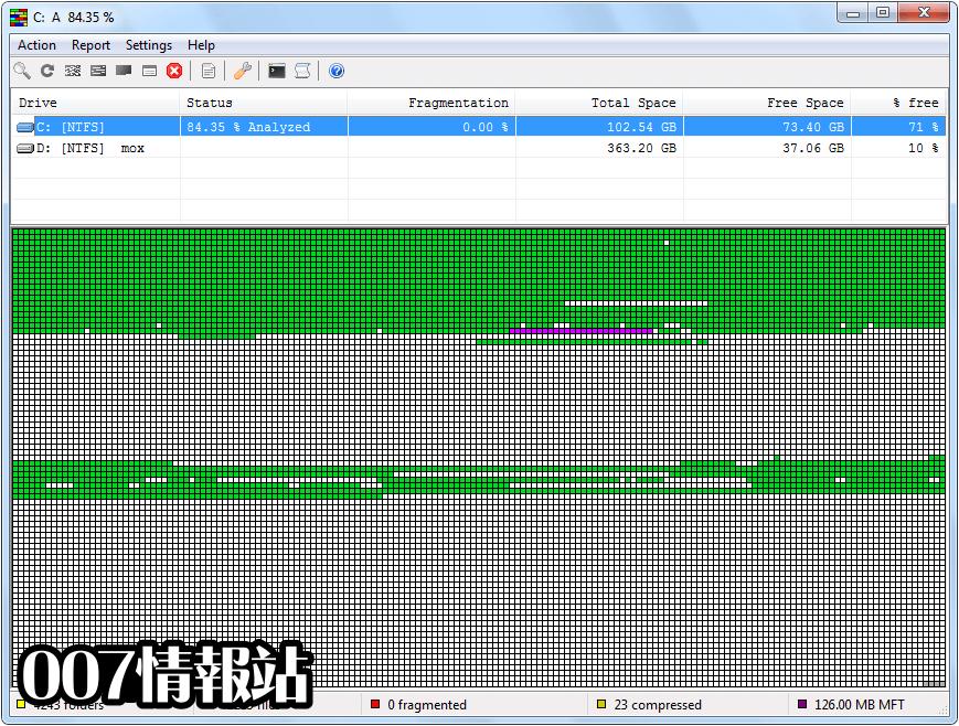 UltraDefrag (64-bit) Screenshot 1