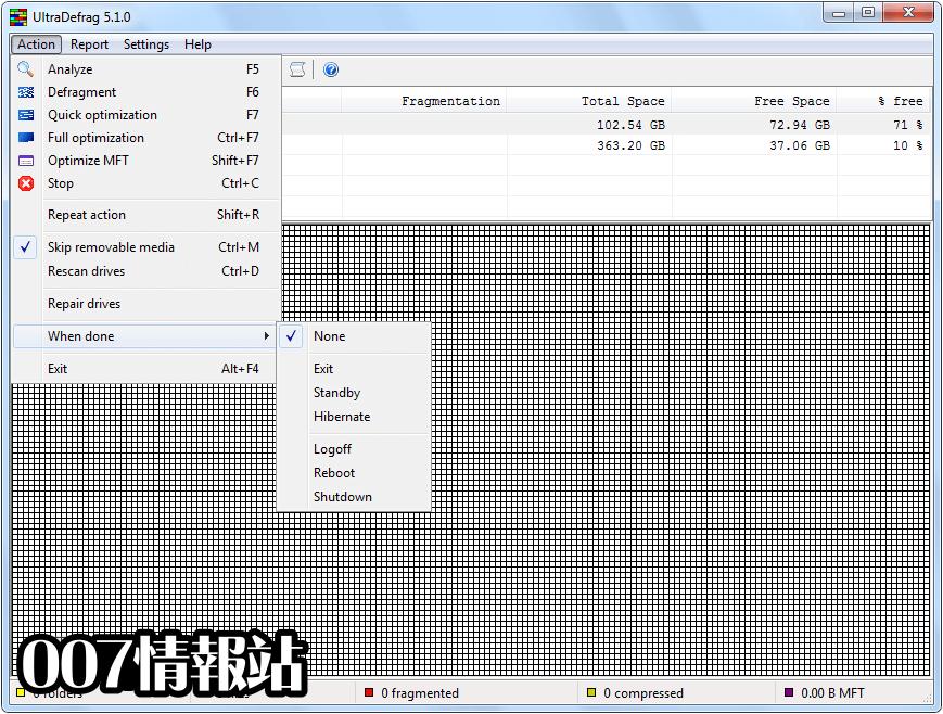 UltraDefrag (64-bit) Screenshot 3