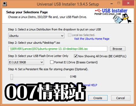Universal USB Installer Screenshot 1
