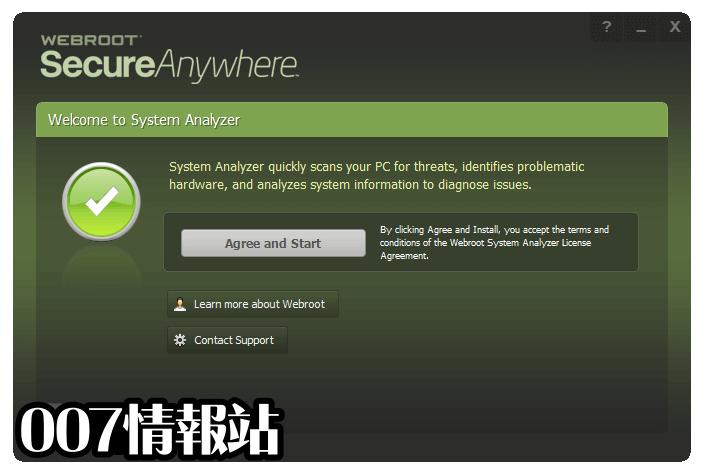Webroot System Analyzer Screenshot 1