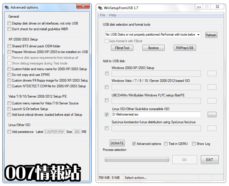 WinSetupFromUSB Screenshot 2