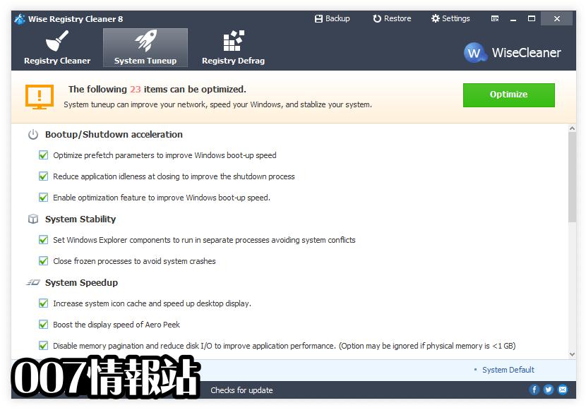 Wise Registry Cleaner Screenshot 2