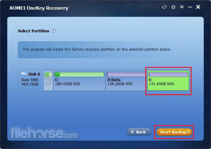 AOMEI OneKey Recovery Screenshot 3