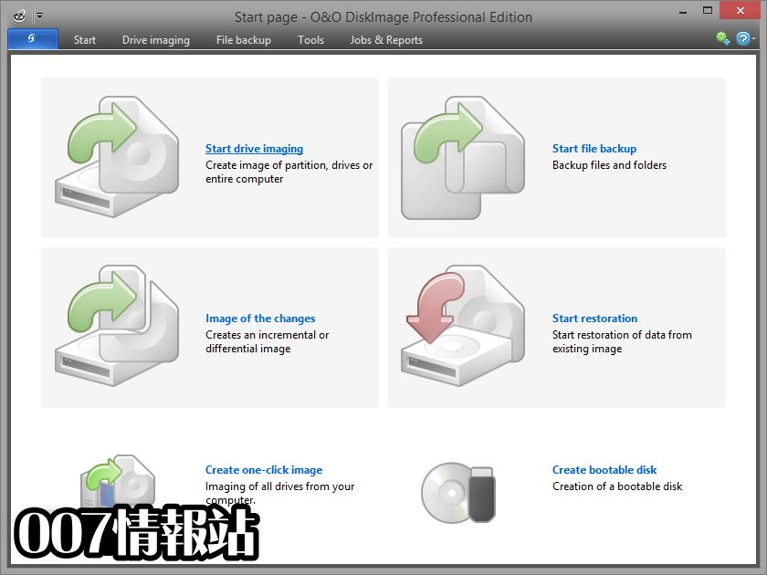 O&O DiskImage Professional Edition (32-bit) Screenshot 1