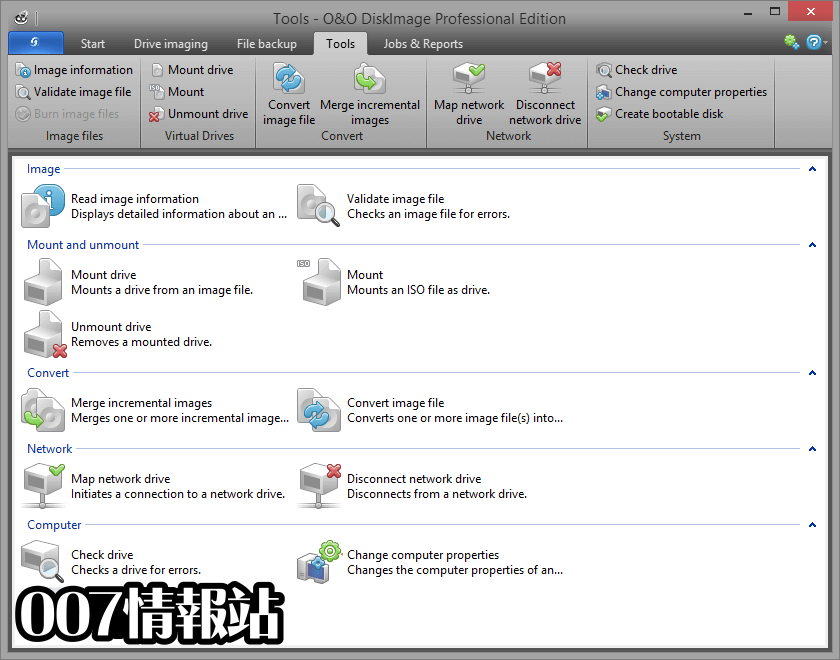 O&O DiskImage Professional Edition (32-bit) Screenshot 4