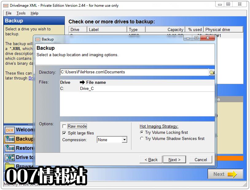 DriveImage XML Screenshot 4