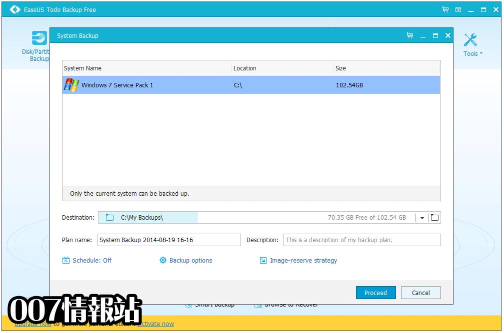 EaseUS Todo Backup Screenshot 3