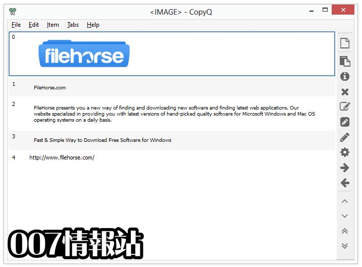 CopyQ Screenshot 1