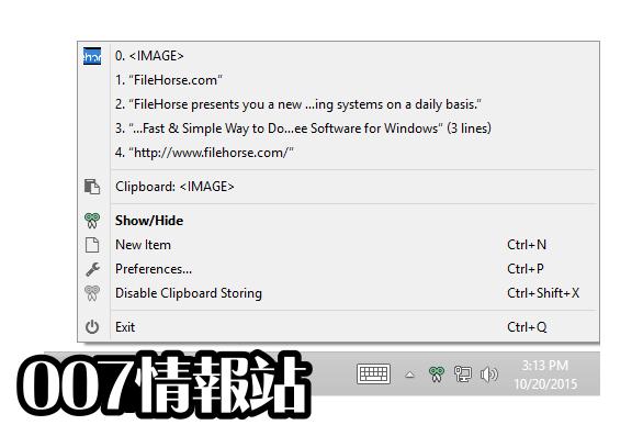 CopyQ Screenshot 4