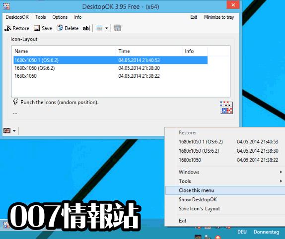 DesktopOK (64-bit) Screenshot 1