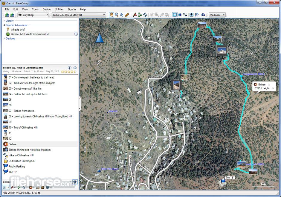 Garmin BaseCamp Screenshot 1