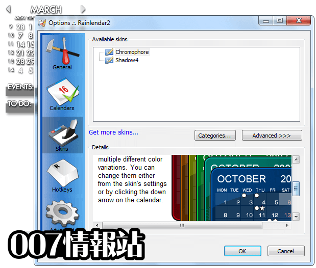 Rainlendar Lite (32-bit) Screenshot 5