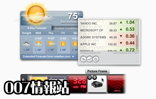 Yahoo Widgets Screenshot 1