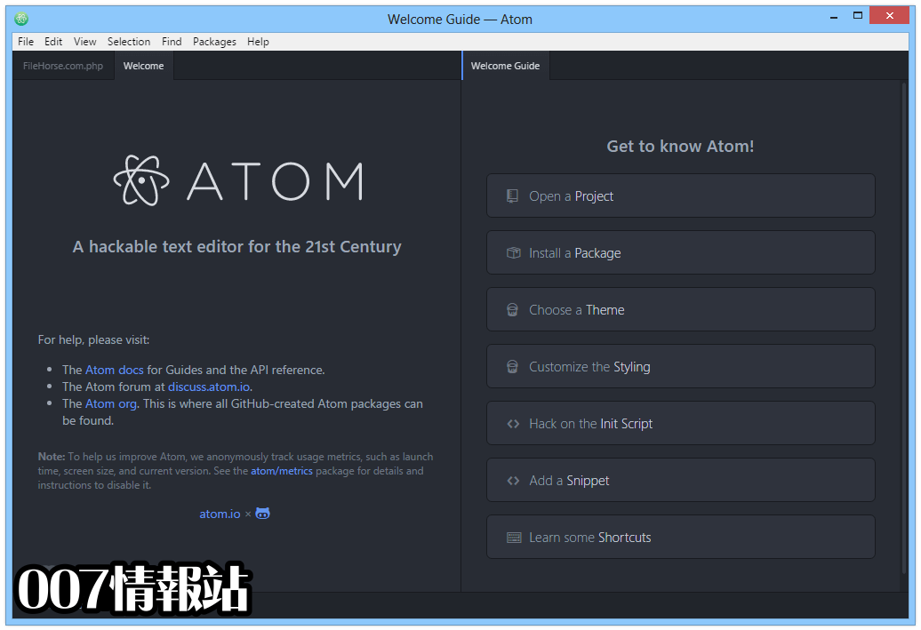 Atom (64-bit) Screenshot 1