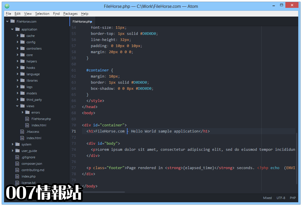 Atom (64-bit) Screenshot 2