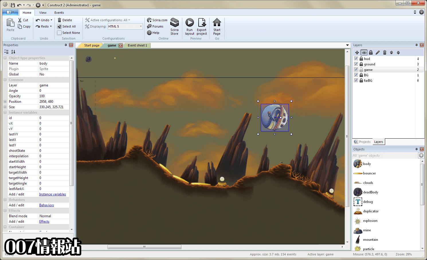 Construct 2 Screenshot 2