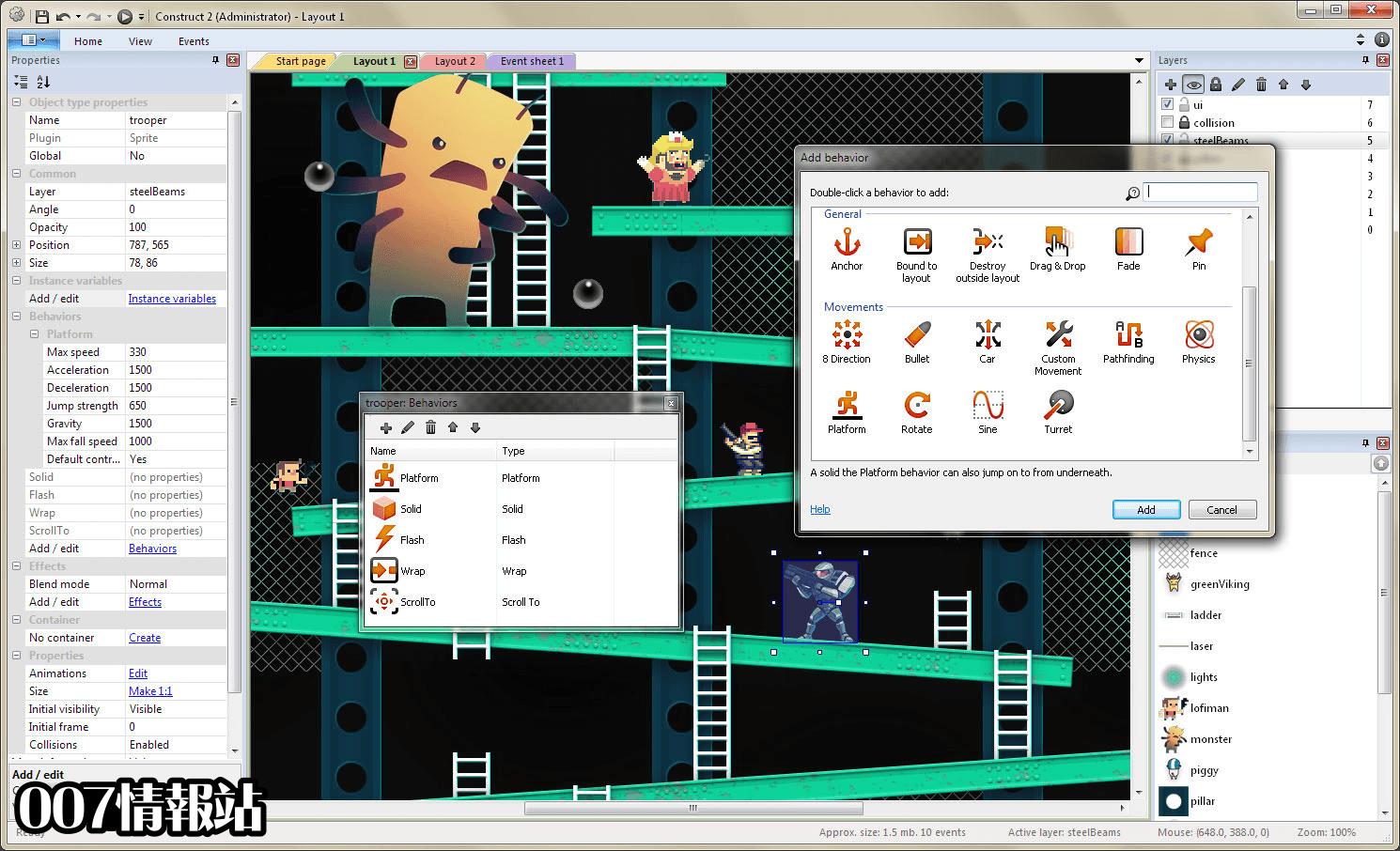 Construct 2 Screenshot 4