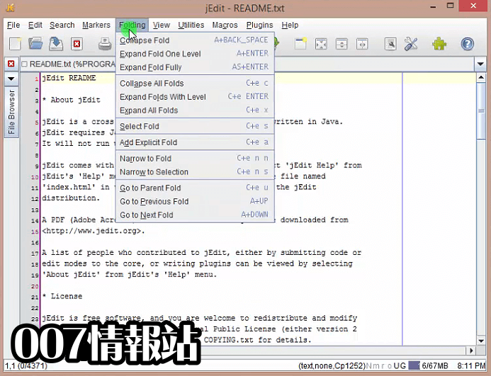 jEdit Screenshot 2