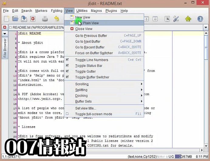 jEdit Screenshot 3