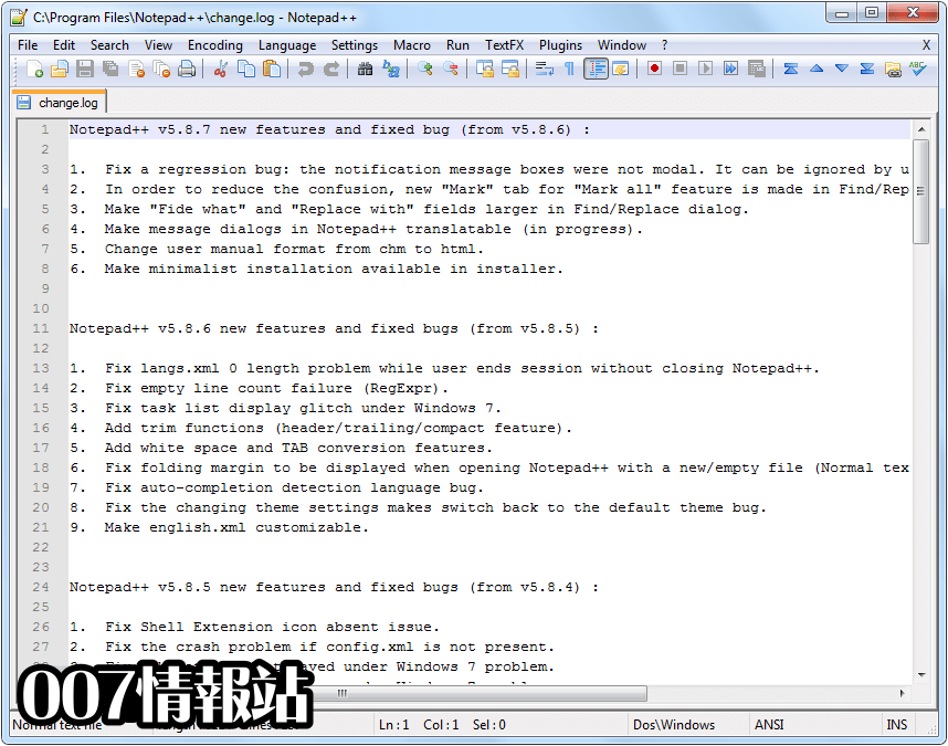 Notepad++ (32-bit) Screenshot 1
