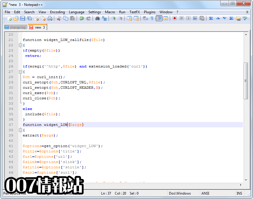 Notepad++ (32-bit) Screenshot 2