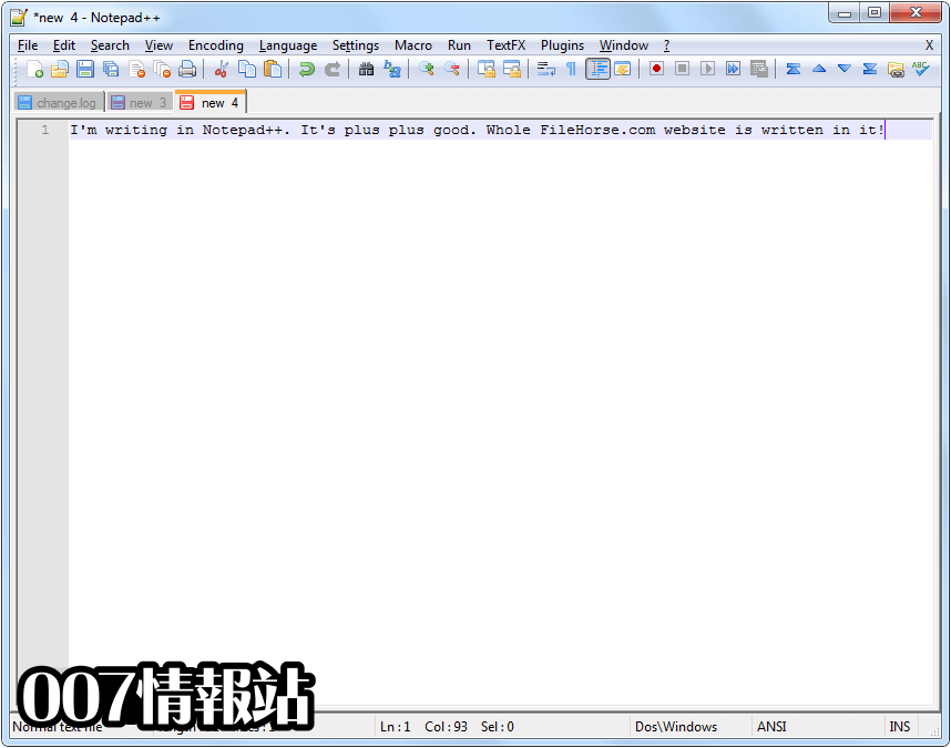 Notepad++ (32-bit) Screenshot 3