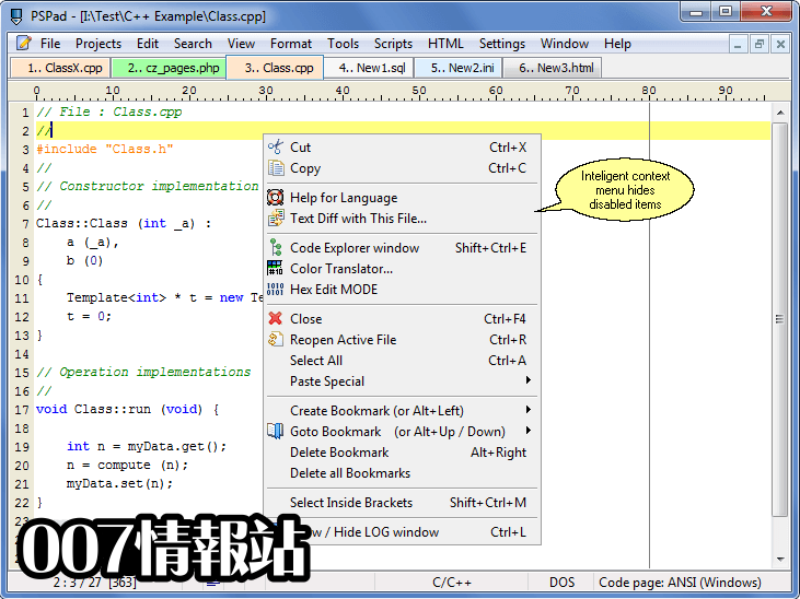 PSPad Screenshot 2