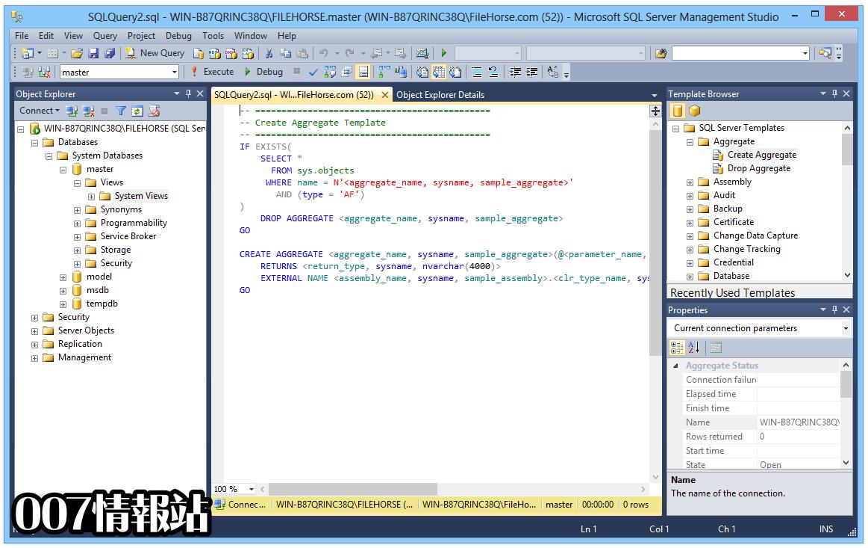 SQL Server Management Studio Screenshot 4