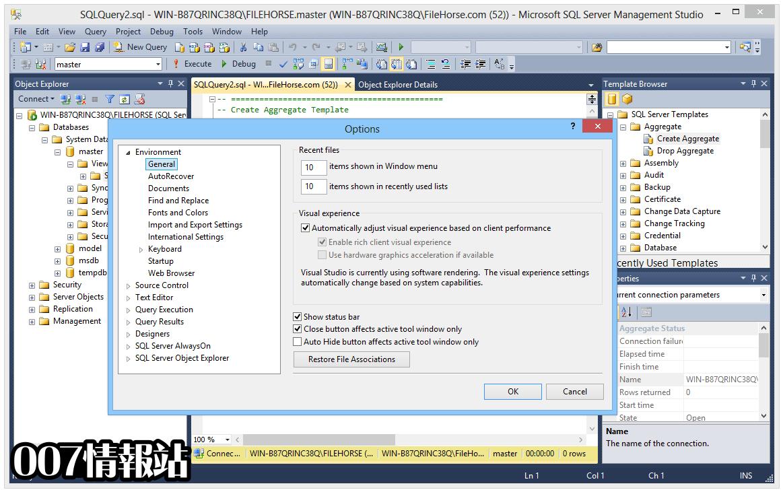 SQL Server Management Studio Screenshot 5