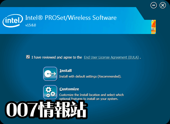 Intel PROSet/Wireless Software (64-bit) Screenshot 1