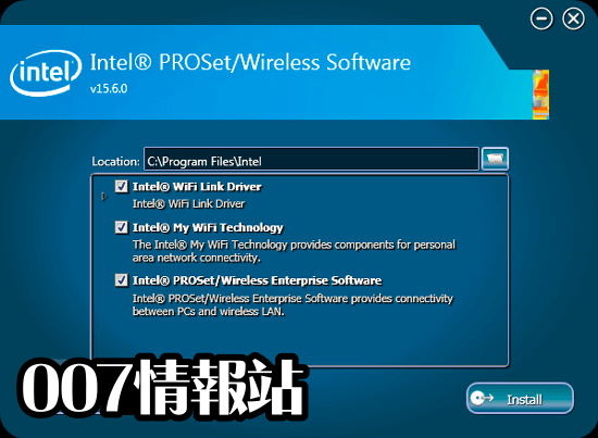 Intel PROSet/Wireless Software (64-bit) Screenshot 2