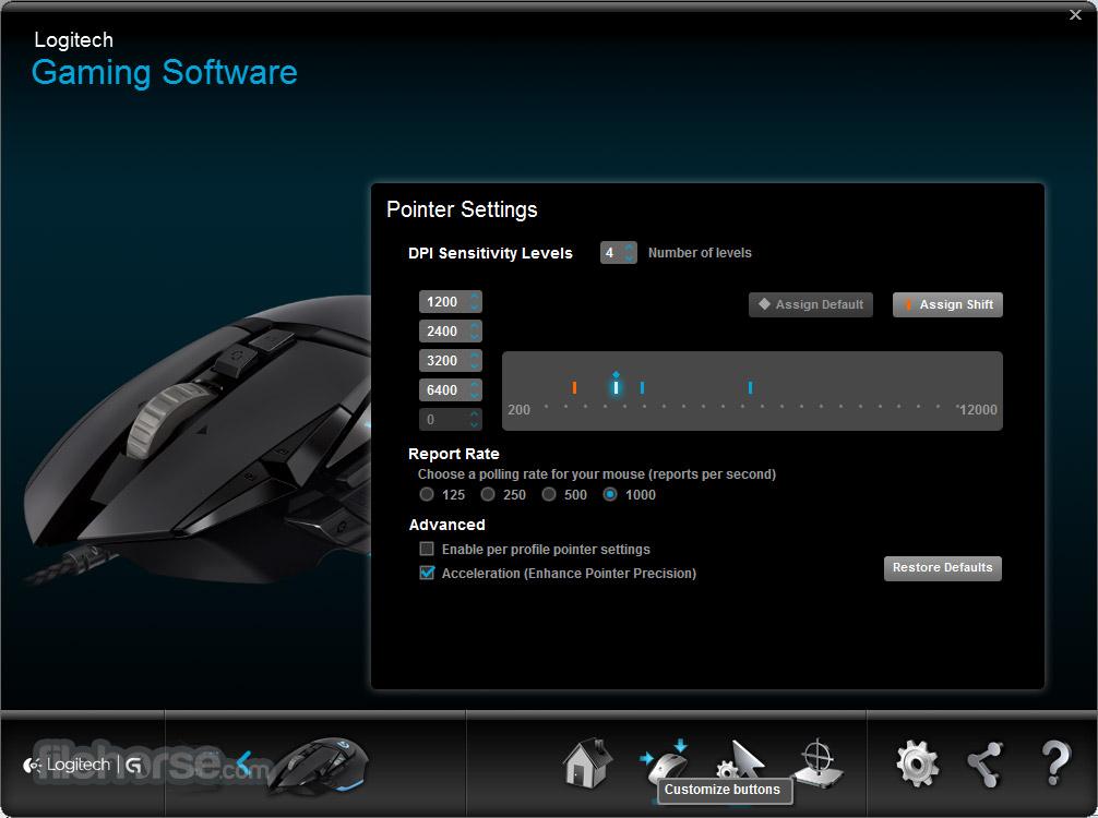 Logitech Gaming Software (64-bit) Screenshot 1