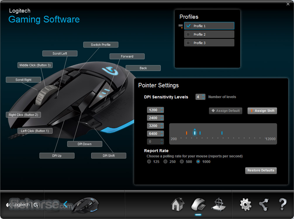Logitech Gaming Software (64-bit) Screenshot 4