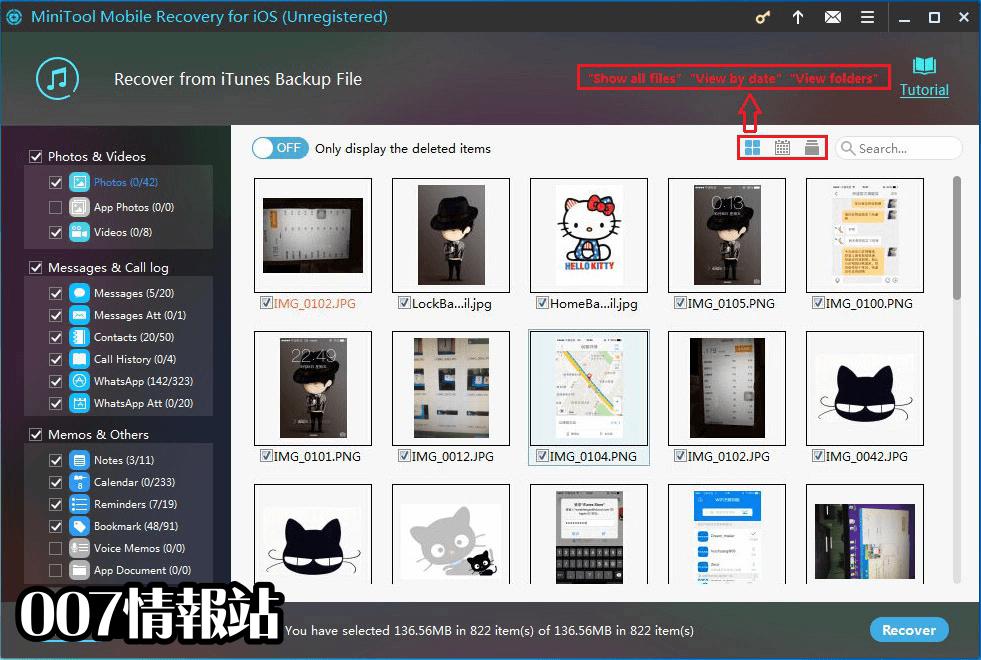 MiniTool Mobile Recovery for iOS Screenshot 2