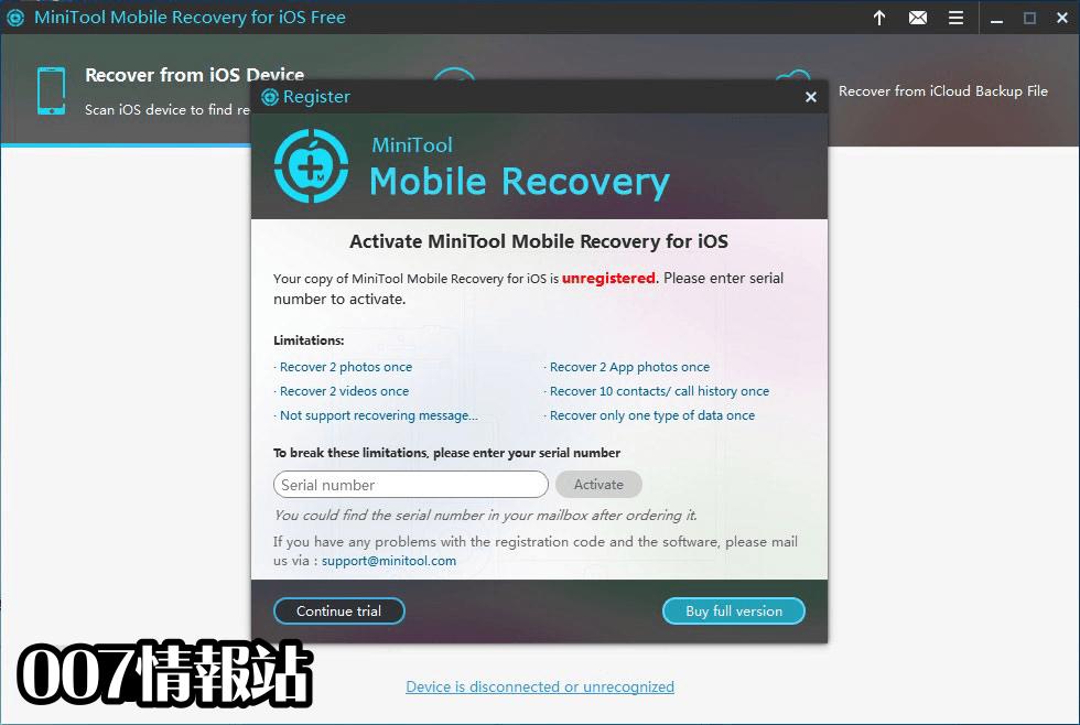 MiniTool Mobile Recovery for iOS Screenshot 5