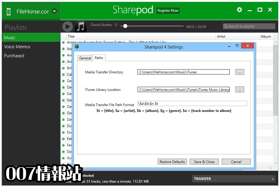 Sharepod Screenshot 4