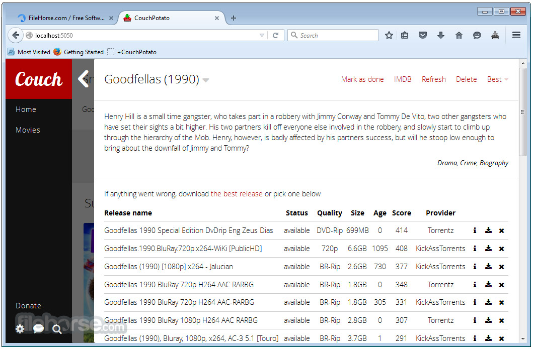 CouchPotato Screenshot 3